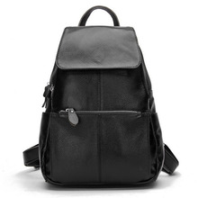 ZENCY Brand Backpack Famous Brands Backpacks Soft Genuine Cow Leather Women Backpack Top Layer Cowhide Lady Bag(Hong Kong)