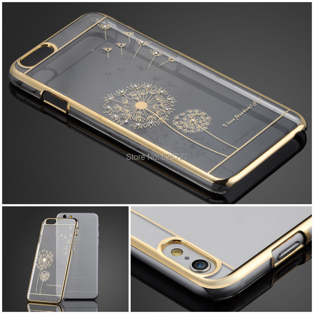 Ultra Slim Luxury Crystal Diamond Bling Transparent Electroplate Back Case Cover For Apple iPhone 5 5s 5g Phone Bag(China (Mainland))