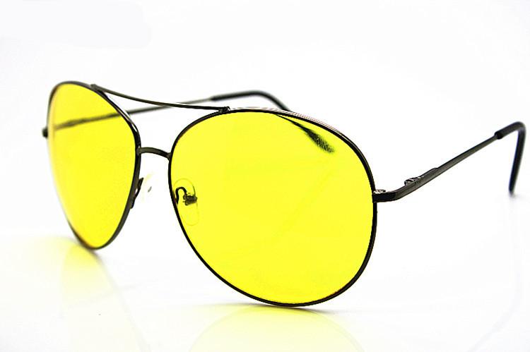 High Definition Night Driving Glasses Yellow Len Sunglasses Gun Frame oculos de sol masculino Free Shipping(China (Mainland))