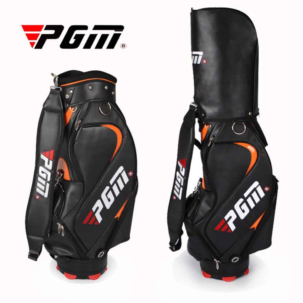 Top Quality PGM PU Golf Bag For Men Standard Bag Waterproof Golf club Bag Golf Training Equipments Only Black Color For Choice(China (Mainland))