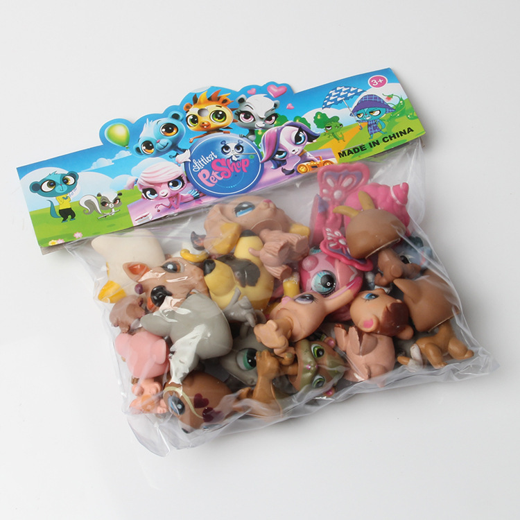 20pcs /set anime Littlest Pet Shop LPS Animals PVC toys doll 4-6cmPOP Collection Gift Decorative ornaments Model Random delivery(China (Mainland))