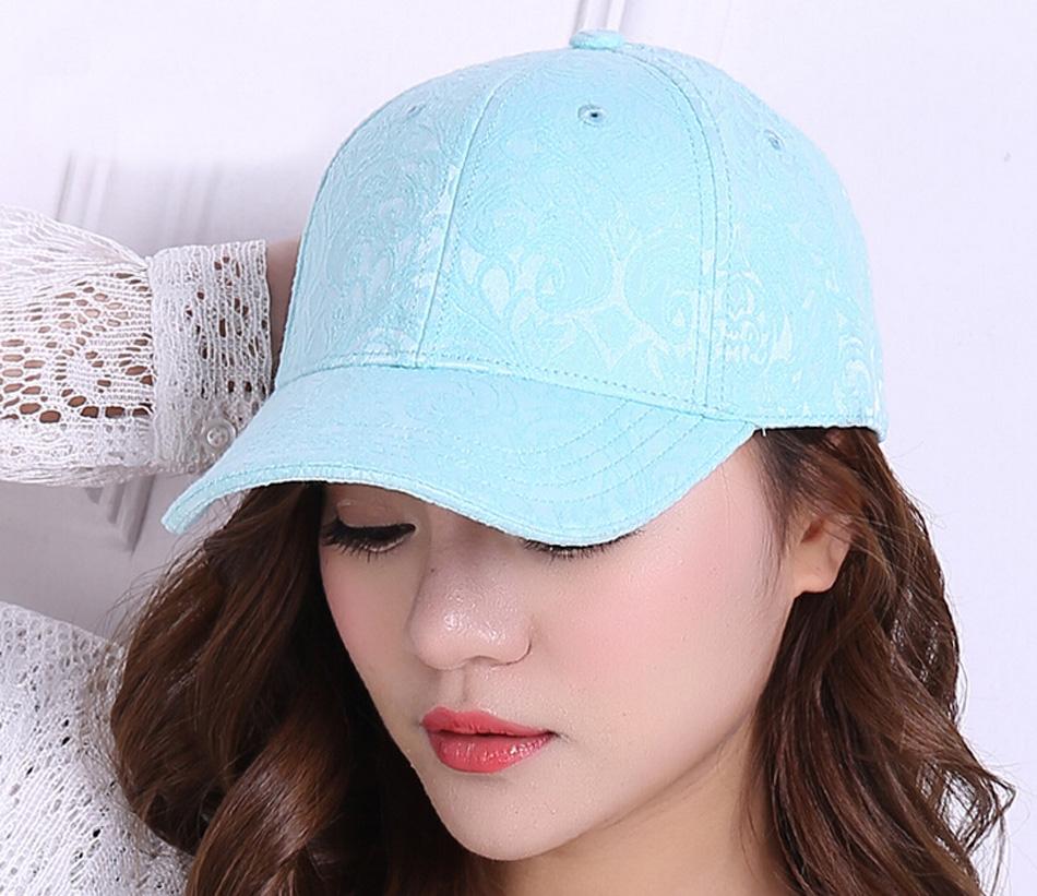 10pcs/Lot Fine Womens Flower Jacquard Baseball Cap 2016 Designer Ladies Floral Cotton Baseball Hats for Spring Summer Wholesale(China (Mainland))
