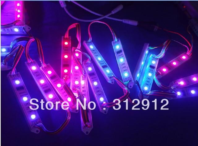 20pcs DC12V WS2801 pixel module,3pcs 5050 led,20pcs a string,91*14*6.8mm size