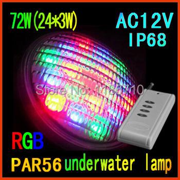 Factory direct sale 12V LED font b Swimming b font pool light underwater lights PAR56 72W