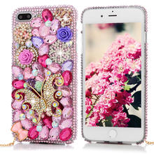 Buy 3D Handmade Diamond Case iPhone 7 Plus 5.5 inch Luxury Bling Shiny Rhinestone Glitter Crystal Clear Hard PC Back Cover for $4.33 in AliExpress store