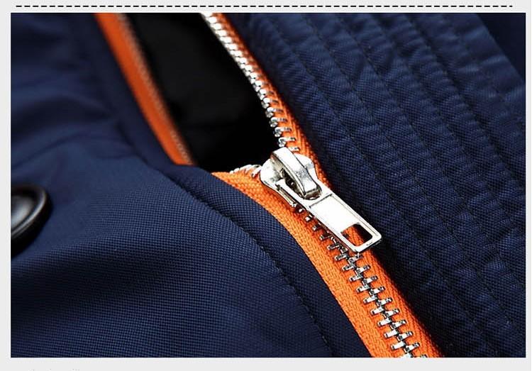 Скидки на 2016 Новая Мода Меха С Капюшоном Вскользь Уменьшают Средней Длины Ветровка мужчины Зима Толстый Хлопок Большой Большой Размер Пальто Куртки Куртка пиджаки
