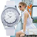 SINOBI Fashion Women s Diamonds Wrist Watches Silicone Watchband Top Luxury Brand Ladies Geneva Quartz Clock