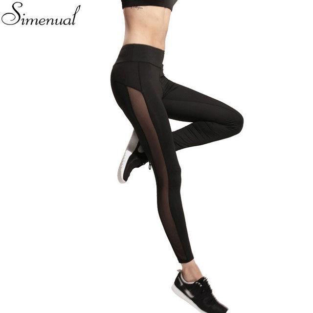 Harajuku 2016 athleisure леггинсы женщины сетки сращивания фитнес тонкий черный брюки спортивная одежда новые леггинсы горячая бодибилдинг