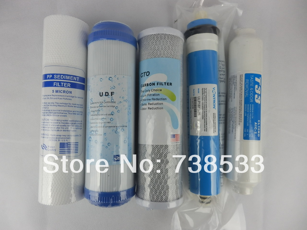 New Water Purifier 5 Stage Filter Cartridge 75 gpd Vontron RO Membrane Reverse Osmosis System Water Filters For Household(China (Mainland))