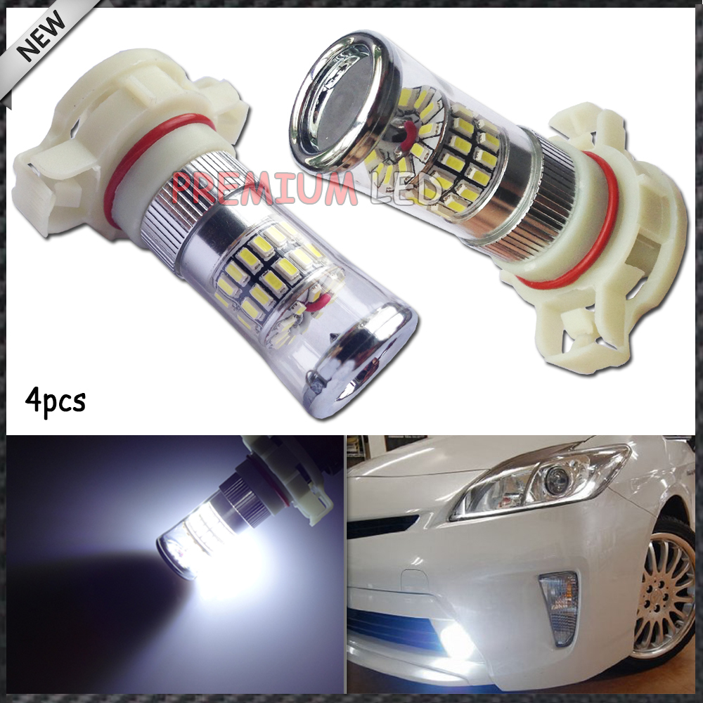 4pcs X-Bright White 48-SMD 5202 H16 LED Bulbs w/ Reflector Mirror Design Daytime Running Light Fog Light DRL Replacement Bulbs(China (Mainland))