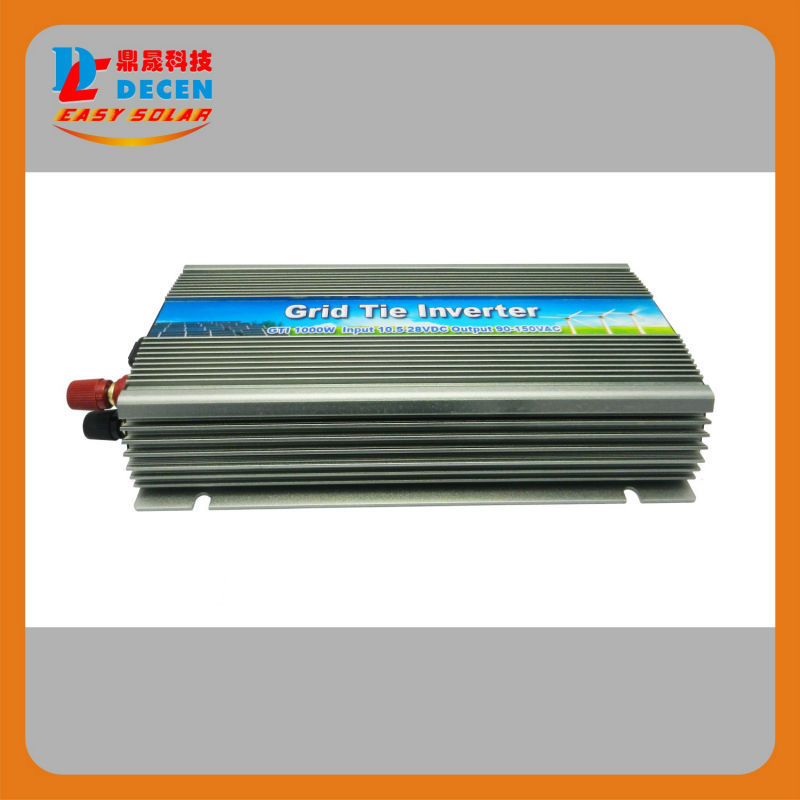DECEN@ 10.5-30v 1000W Solar High Frequency Pure Sine Wave Grid Tie Inverter, Output 90-260V.power inverter, do not need battery(China (Mainland))