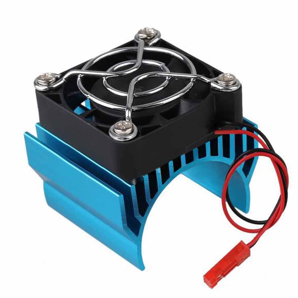 RC Parts Brushless Aluminum Electric 540 550 Motor Heat Sink Cover + Cooling Fan Heatsink 1/10 For HSP Himoto Redcat<br><br>Aliexpress
