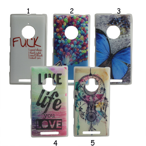 New Arrival Live the life Balloons Soft TPU GEL Phone Case For Nokia lumia 830 Protective Covers(China (Mainland))