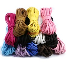 Buy Flat Faux Suede Korean Velvet Leather Cord DIY Rope Thread Jewelry Making Decorative Handicrafts Accessories 3mm for $1.29 in AliExpress store