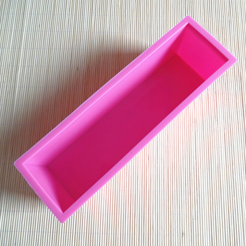 26*7*7.7cm rectangle silicone mould for cake toast bread baking kitchen bakeware soap making tools bakery mold(China (Mainland))