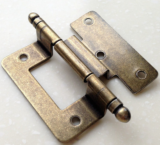 Bronze archaize closet cabinet bookcase door hinges Flat New 2PCS(China (Mainland))