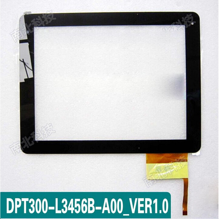 """new L3456B 9.7"""" Capacitive touch screen digitizer touch panel glass for Hapad X10 TABLET PC/MID 300-L3456B-A00_VER1.0(China (Mainland))"""