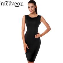 Meaneor Brand 2015 Stylish Women Summer Dress Elegant Sleeveless Bandage Bodycon Casual Business Dress(China (Mainland))