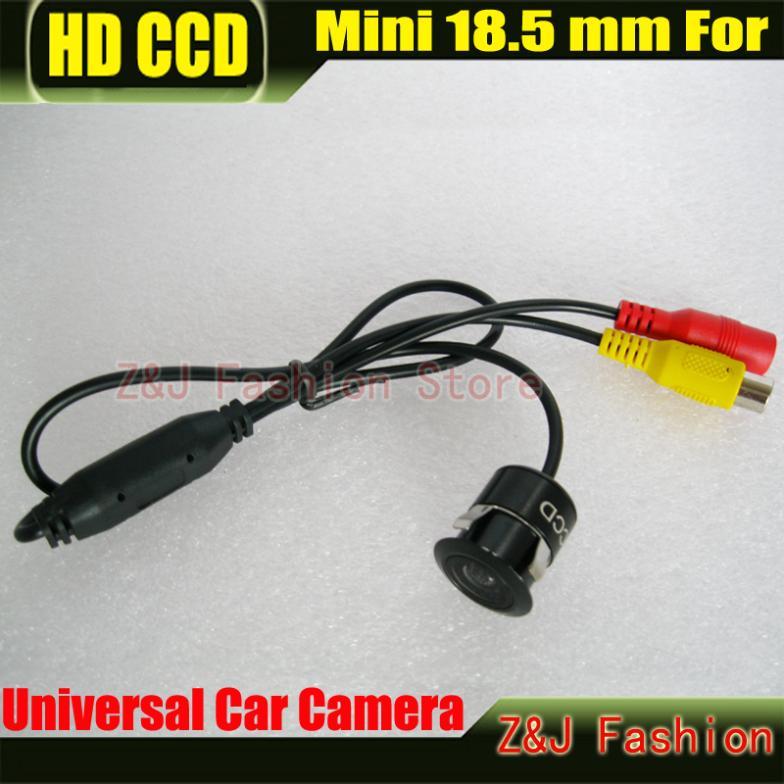 Free Shipping Mini Car 18.5MM Camera HD CCD Car Rear View Camera Reverse Parking back up Camera night vision waterproof ZJ(China (Mainland))