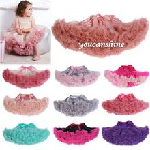 New Fashion Toddler Kids Girl's Clothing Baby's Fluffy Pettiskirt Tutu Princess Pleated Skirt Dancewear Party 0-24Mo(China (Mainland))