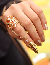 Hot Sell Beautiful Elegant Sparkling Alloy Nail Rings For Women and girls Wholesale Aneis Bijouterie