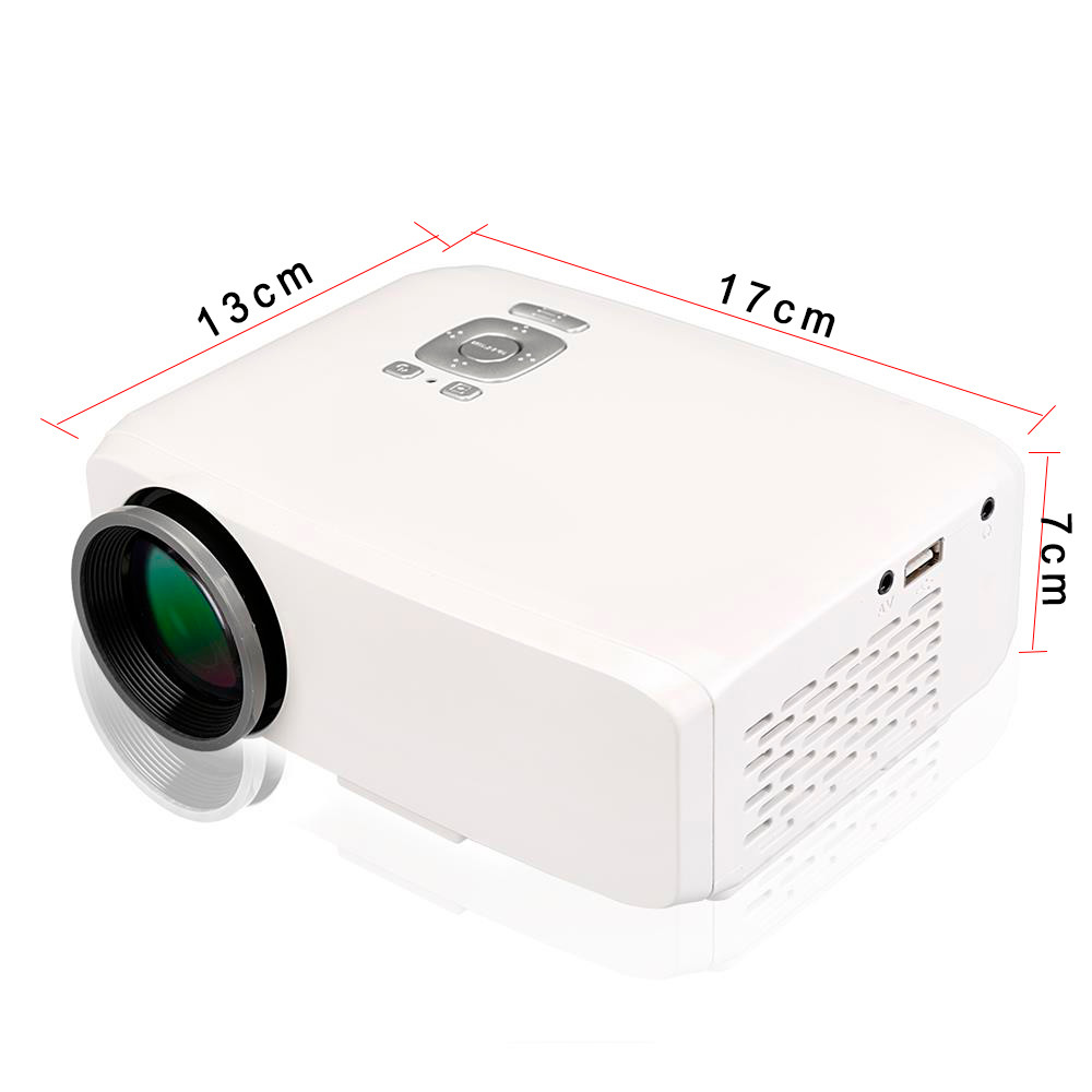 Portable Mini Proyector Home LED HDMI Video Beamer 800 Lumens High Definition Projector Full HD 1080P Theater HDMI/VGA/AV/USB/SD