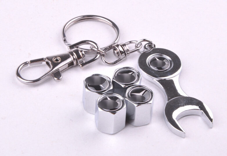 Free shipping power car wheel tire valve caps for benz for Mercedes benz tire chains