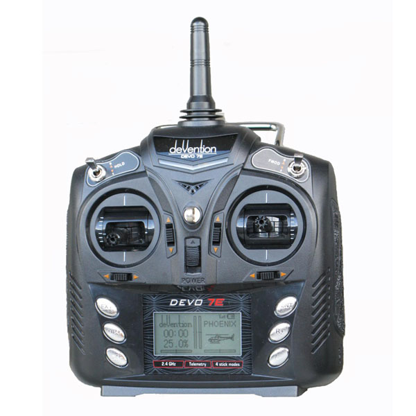 Walkera Devo 7E 7CH Transmitter Radio Control Mode 2 Without Receiver For Rc Helicopter<br><br>Aliexpress