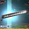 20 inch 120W Single Row XM L 10W CREE LED Offroad light bar combo for AWD