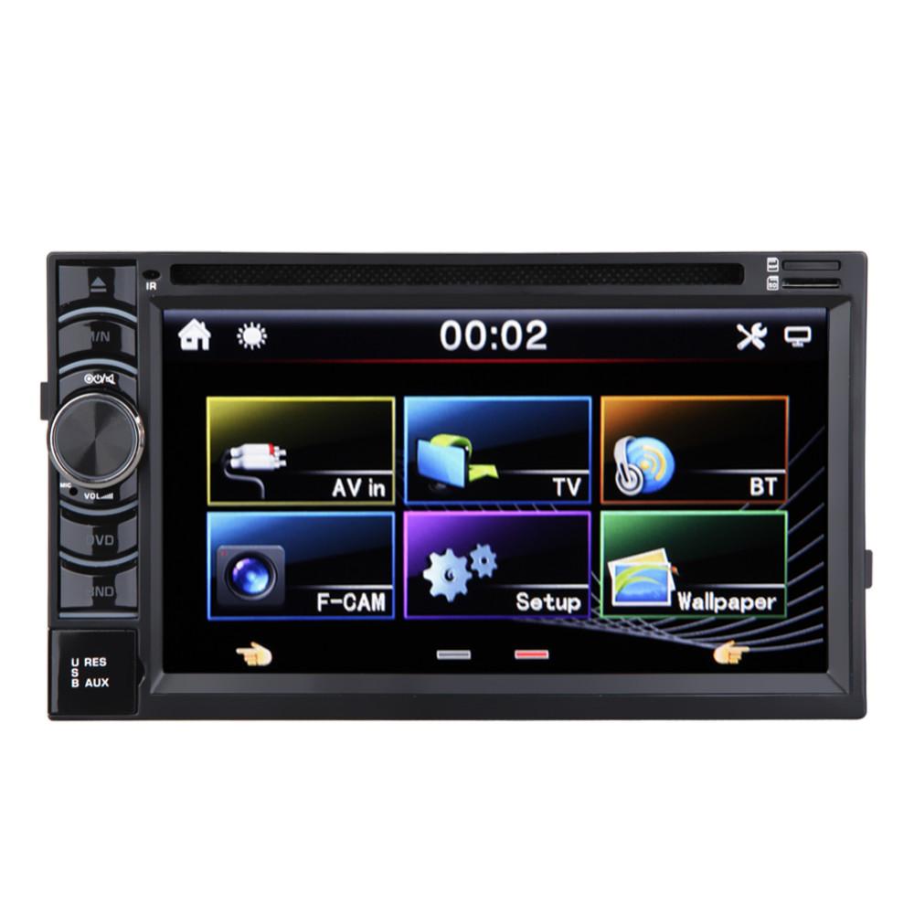 Купить 6.5 дюймов 2 Дин Стерео Радио MP5 Плеер HD Сенсорный экран Car Audio DVD VCD CD Multi Player Поддержка Bluetooth FM/USB/SD/AM/А. В.