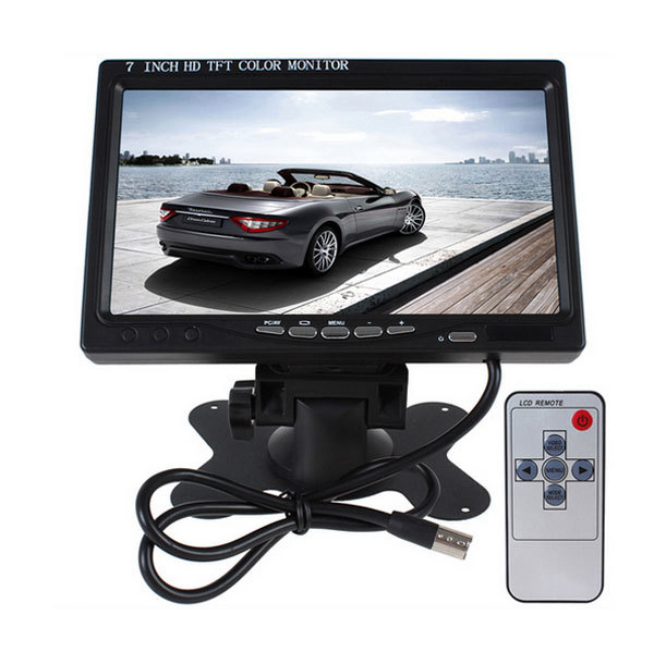 7Led Car Monitor Camera DVD VCR Backup TFT LCD Car Reverse Rear View Color Monitor DVD With Wireless Receiver And Bus Camera<br><br>Aliexpress