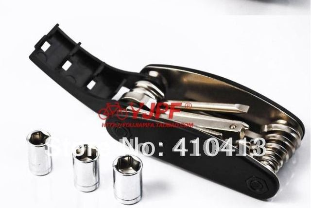 B High quality mini item1pcs/lot free shipping folding repair tools16 in one multifunction bicycle tools