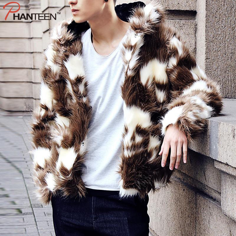 Skull Pattern Hooded Zipper Thicken Warming Man Winter Coat Faux Fur Rock And Roll Hiphop Rich Style Men Fashion OuterwearОдежда и ак�е��уары<br><br><br>Aliexpress