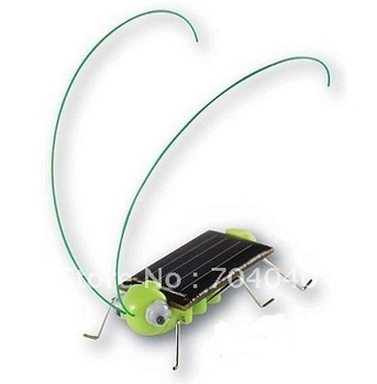 Solar Power Robot Insect Bug Locust Grasshopper Toy kid Free Shipping