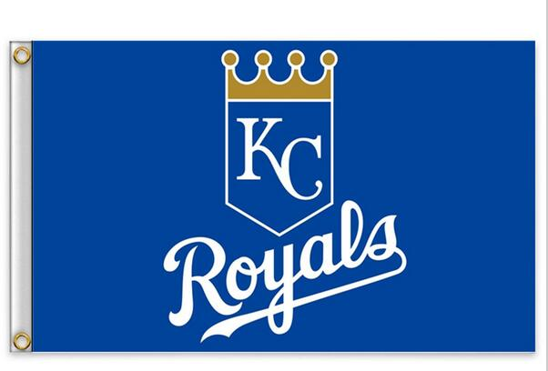 Kansas City Royals Flag MLB Flag hot sell goods 3X5FT 90x150cm Sport Outdoor Banner brass metal holes Custom flag,free shipping(China (Mainland))