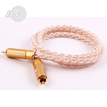 Free Shipping JIB Germany Hi-Fi HiFi Hi-End Copper HG-OCC Audio Signal Cord Cable 24K Gold HF-005(China (Mainland))