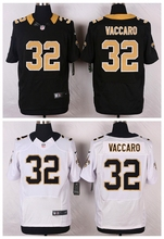 New Orleans Saints #32 Kenny Vaccaro Elite White and Black Team Color free shipping(China (Mainland))