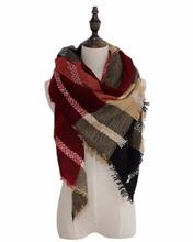 Fall Winter Warm Soft Large Popular Blanket Tartan Shawl Large Tartan Fashion Women Versatile Tartan Scarf Free Shipping