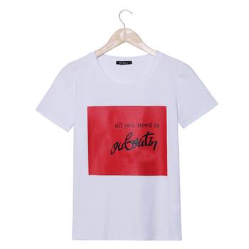2016 Summer Designer Fashion Brand Emoji T Shirt Womens ALL YOU NEED IS Letter Print O-neck Short Sleeve Harajuku Tee Shirt Tops