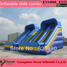 PVC6X4X5m 2016 free shipping commercial grade cheap giant inflatable slide for sale(China (Mainland))