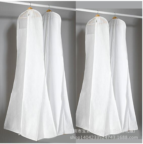 Non-Woven Fabric & Plastic Wedding Dresses Garment Dust Proof Cover Bags Storage Bags For Clothes(China (Mainland))