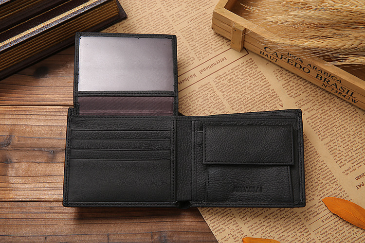 Hot Sale New style 100 genuine leather hasp design men s wallets with coin pocket fashion