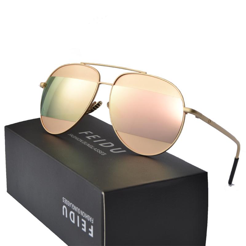 FEIDU Women Coating Sunglasses Fashion Celebrity Same Paragraph Sunglasses Oval Alloy Frame Mirror Ladies Hot Selling Oculos(China (Mainland))