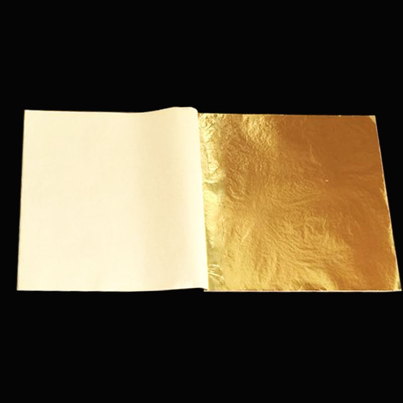 1 booklet 25 pieces / per booklet foil 14 X 14cm Imitation gold leaf sheet foil copper leaf free shipping(China (Mainland))