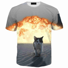 3d print bomb cat palace thrasher fear god brand clothing bape yeezy kanye west trasher hip hop t shirt men homme - Fashion inspiration store