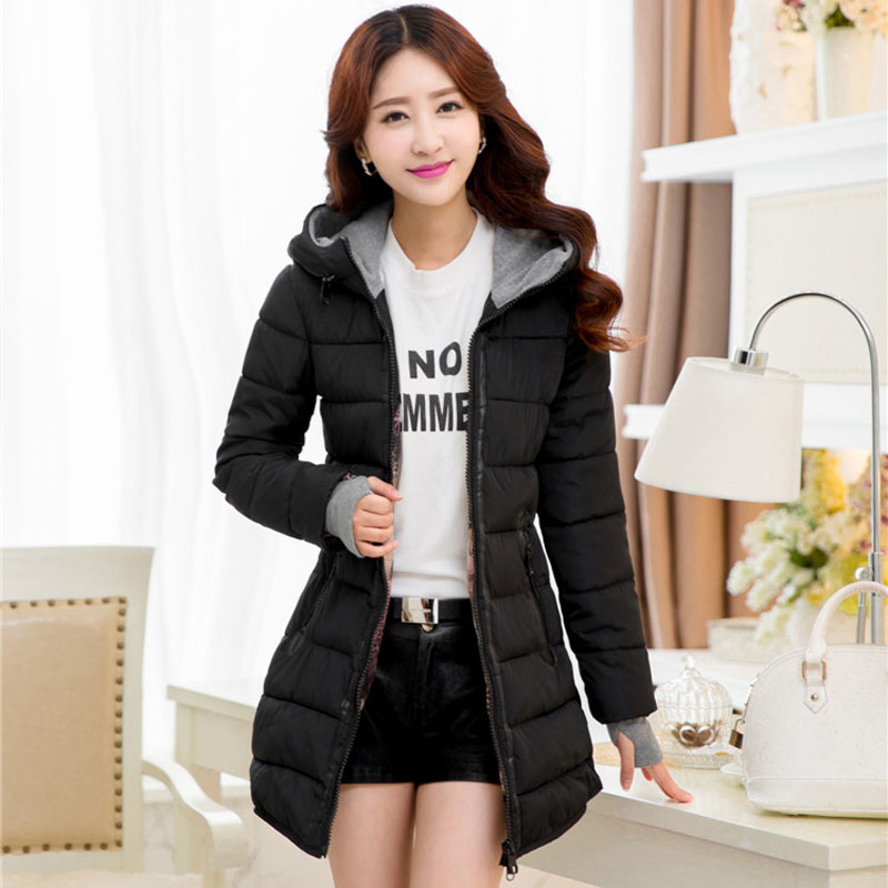 winter down parka women black blue and pink long wadded coat young girl warm down jacket plus size xl-5xl 6xl 50(China (Mainland))
