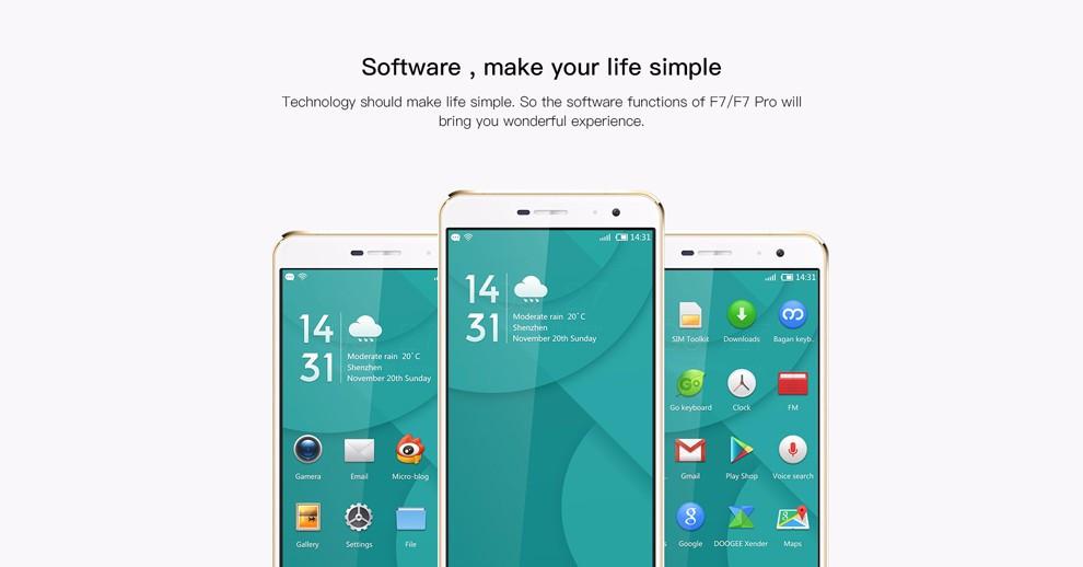 Original Doogee F7 Pro Cell Phone 4GB RAM 32GB ROM MTK6797 Helio X20 Deca Core 5.7″ Screen 21MP Camera Android 6.0 OS Smartphone