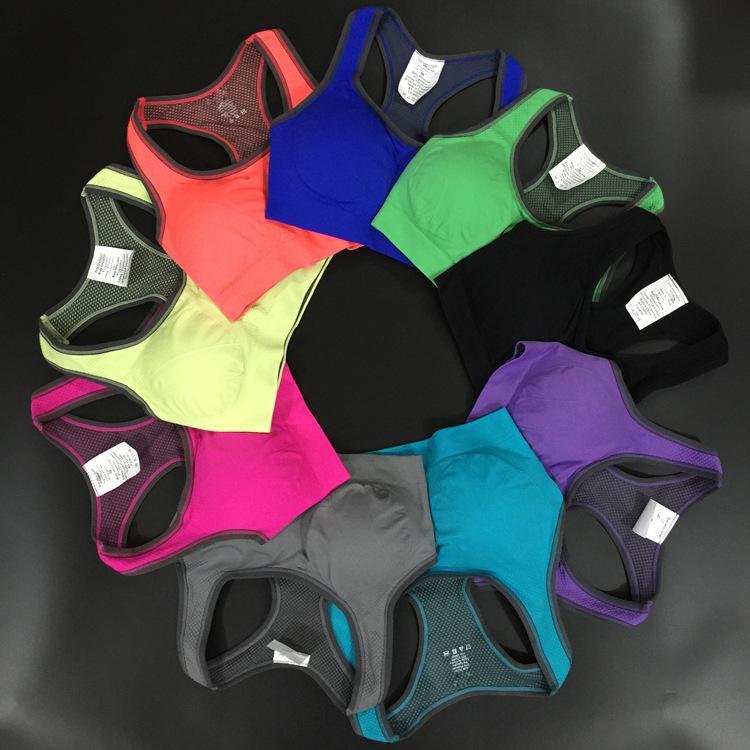 Hot ! 9 Colors !New Women Padded Top Athletic Vest Gym Fitness Sports Bra vs bra sujetadores deportivos women brassiere sport(China (Mainland))