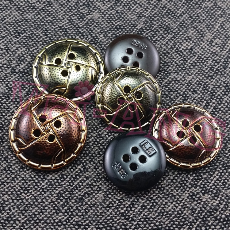 100pcs/lot, 20mm Fur Coat Buttons Two Colors Selectable Plastic Button Garment Accessories(China (Mainland))