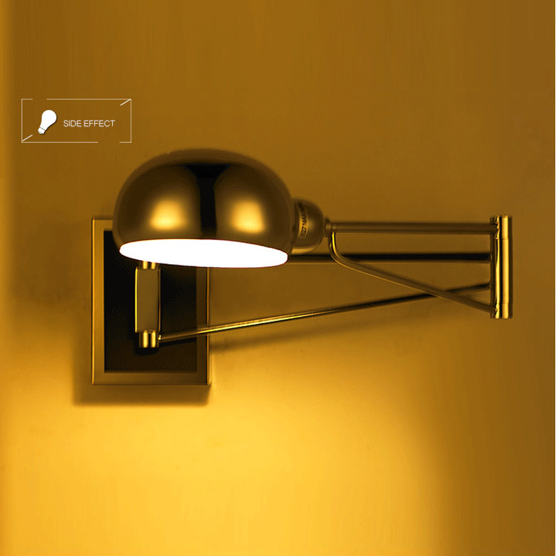 Wall swing arm lamps bedroom
